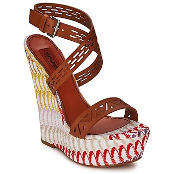 Încăltăminte Femei Sandale și Sandale cu talpă  joasă Missoni XM015 Maro /  multicolor