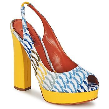 Încăltăminte Femei Sandale și Sandale cu talpă  joasă Missoni XM005 Galben / Albastru