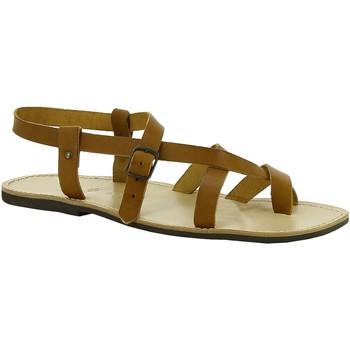 Pantofi Femei Sandale  Gianluca - L'artigiano Del Cuoio 530 U CUOIO LGT-GOMMA Cuoio