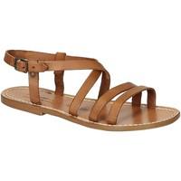Pantofi Femei Sandale  Gianluca - L'artigiano Del Cuoio 531 D CUOIO CUOIO Cuoio