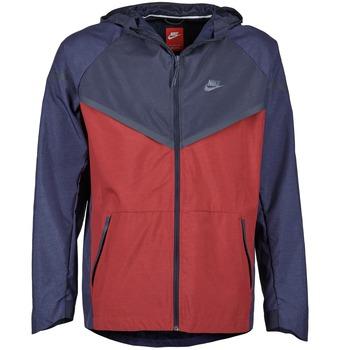 Îmbracaminte Bărbați Jacheta de vânt Nike TECH WINDRUNNER Roșu / Bleumarin / Gri
