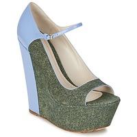 Pantofi Femei Pantofi cu toc John Galliano S54261 Albastru / Verde