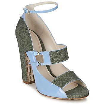 Pantofi Femei Sandale  John Galliano A54250 Albastru / Verde