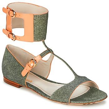 Pantofi Femei Sandale  John Galliano A65970 Verde / Bej