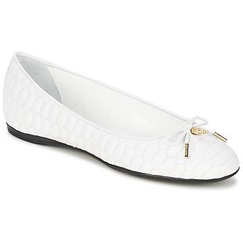 Pantofi Femei Balerin și Balerini cu curea Roberto Cavalli XPS151-PN119 Alb