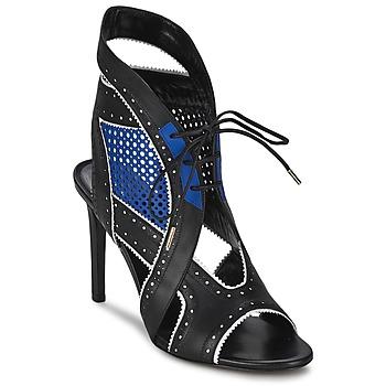 Pantofi Femei Sandale și Sandale cu talpă  joasă Roberto Cavalli XPS254-PZ448 Negru / Albastru
