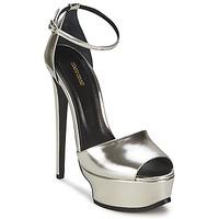 Pantofi Femei Sandale și Sandale cu talpă  joasă Roberto Cavalli XPS260-PZ048 Gri / Argintiu