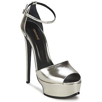 Pantofi Femei Sandale  Roberto Cavalli XPS260-PZ048 Gri / Argintiu