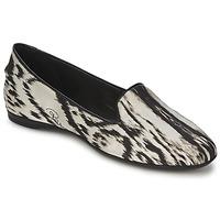 Pantofi Femei Balerin și Balerini cu curea Roberto Cavalli XPS280-FLA35 Bej / Negru