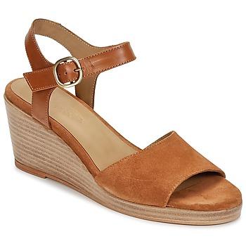 Pantofi Femei Sandale și Sandale cu talpă  joasă n.d.c. LAS SALINAS Coniac