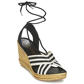 Pantofi Femei Sandale și Sandale cu talpă  joasă Marc Jacobs DANI Negru / Alb
