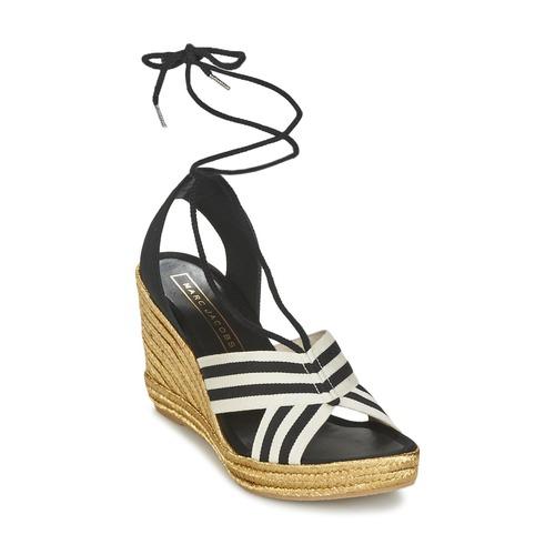 Pantofi Femei Sandale  Marc Jacobs DANI Negru / Alb