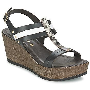 Pantofi Femei Sandale și Sandale cu talpă  joasă Café Noir LAPIBO Negru