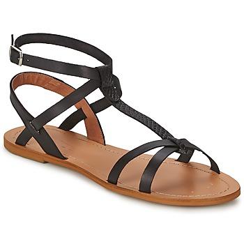 Pantofi Femei Sandale și Sandale cu talpă  joasă So Size BEALO Negru
