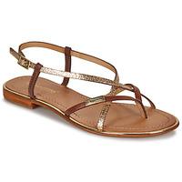 Pantofi Femei Sandale și Sandale cu talpă  joasă Les Tropéziennes par M Belarbi MONACO Tan / Auriu