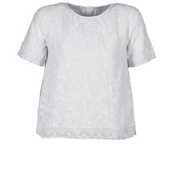 Îmbracaminte Femei Tricouri mânecă scurtă Manoush COTONNADE SMOCKEE Alb