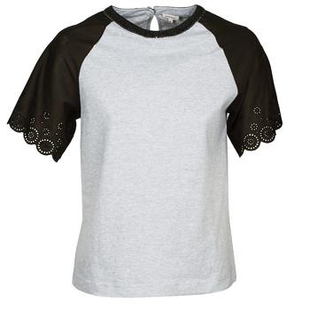 Îmbracaminte Femei Tricouri mânecă scurtă Manoush FANCY Gri / Negru
