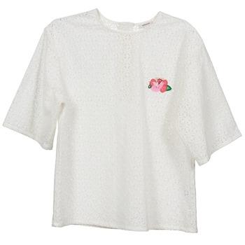 Îmbracaminte Femei Topuri și Bluze Manoush FLOWER BADGE Alb