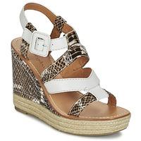 Pantofi Femei Sandale și Sandale cu talpă  joasă Mellow Yellow VANAIS Alb / Maro