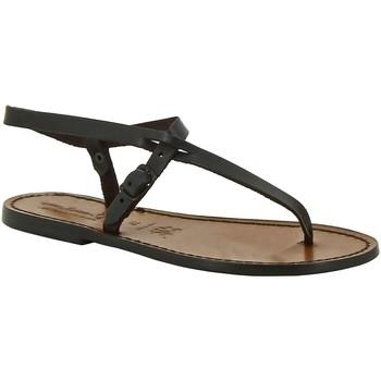 Pantofi Femei Sandale  Gianluca - L'artigiano Del Cuoio 592 D MORO CUOIO Testa di Moro
