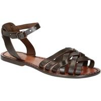 Pantofi Femei Sandale  Gianluca - L'artigiano Del Cuoio 595 D MORO CUOIO Testa di Moro