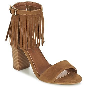 Pantofi Femei Sandale și Sandale cu talpă  joasă Moony Mood ERANDA Camel
