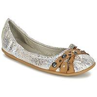 Pantofi Femei Balerin și Balerini cu curea Regard SOLI Argintiu / Bej