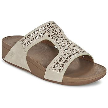 Încăltăminte Femei Papuci de vară FitFlop CARMEL SLIDE Bej