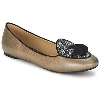 Pantofi Femei Balerin și Balerini cu curea Etro 3922 Auriu