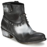 Pantofi Femei Ghete Strategia SFUGGO Negru / Argintiu