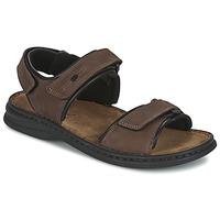 Pantofi Bărbați Sandale  Josef Seibel RAFE Maro / Negru