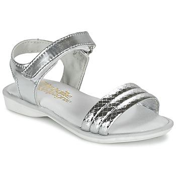 Pantofi Fete Sandale și Sandale cu talpă  joasă Citrouille et Compagnie GOSAGOLA Argintiu