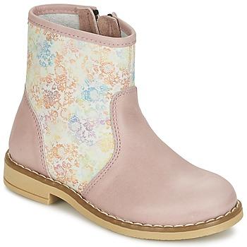 Pantofi Fete Ghete Citrouille et Compagnie OUGAMO LIBERTY Roz / Flowercolor