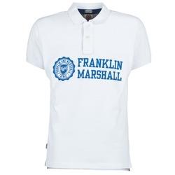 Îmbracaminte Bărbați Tricou Polo mânecă scurtă Franklin & Marshall AYLEN Alb