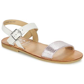 Pantofi Fete Sandale și Sandale cu talpă  joasă Start Rite FLORA II Roz / Alb