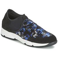 Pantofi Femei Pantofi Slip on Meline LEO Negru / Albastru