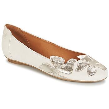 Pantofi Femei Balerin și Balerini cu curea Betty London ERUNE Alb / Argintiu