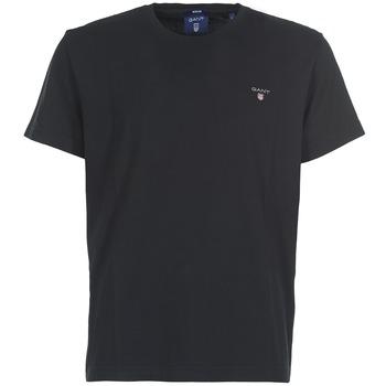 Îmbracaminte Bărbați Tricouri mânecă scurtă Gant THE ORIGINAL T-SHIRT Negru
