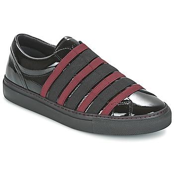 Încăltăminte Femei Pantofi Slip on Sonia Rykiel SONIA BY - SLIPPINOI Negru / Roșu-bordeaux
