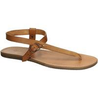 Pantofi Femei Sandale  Gianluca - L'artigiano Del Cuoio 592 U CUOIO GOMMA Cuoio