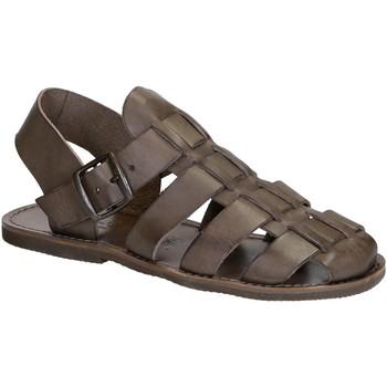 Pantofi Femei Sandale  Gianluca - L'artigiano Del Cuoio 502 U FANGO GOMMA Fango
