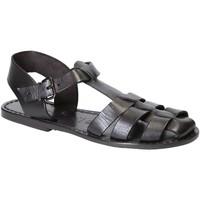 Pantofi Femei Sandale  Gianluca - L'artigiano Del Cuoio 501 D NERO CUOIO nero