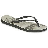 Pantofi Femei  Flip-Flops Havaianas SLIM PHOTOPRINT Negru / Gri