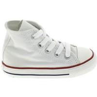 Pantofi Copii Botoșei bebelusi Converse All Star Hi BB Blanc Alb