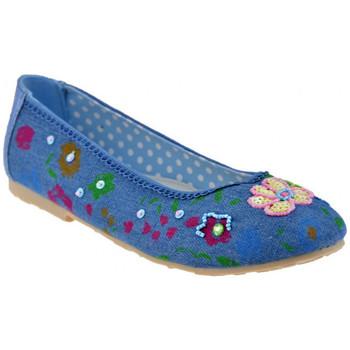 Pantofi Copii Balerin și Balerini cu curea Lulu  albastru