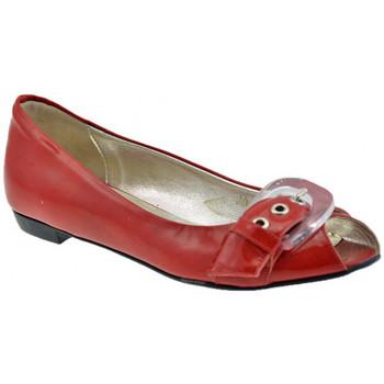 Pantofi Femei Balerin și Balerini cu curea Lea Foscati  roșu