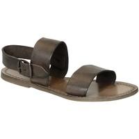 Pantofi Femei Sandale  Gianluca - L'artigiano Del Cuoio 500 D FANGO CUOIO Fango