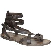 Pantofi Femei Sandale  Gianluca - L'artigiano Del Cuoio 564 U FANGO CUOIO Fango