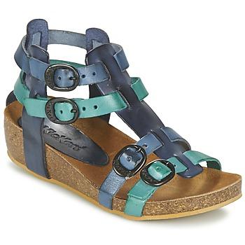Pantofi Fete Sandale și Sandale cu talpă  joasă Kickers BOMDIA Albastru