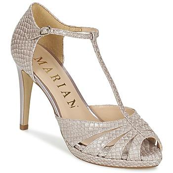 Pantofi Femei Sandale  Marian CHANVRO Bej / Piton